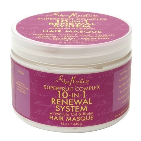 Shea Moisture Superfruit Complex 10 in 1 Renewal System with Marula Oil and Biotin Hair Masque 12 Oz by Shea Moisture