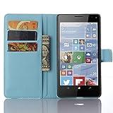 Tasche für Nokia Microsoft Lumia 950 XL Hülle, Ycloud PU Ledertasche Flip Cover Wallet Case Handyhülle mit Stand Function Credit Card Slots Bookstyle Purse Design blau