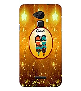 PrintDhaba Zodiac Gemini D-3720 Back Case Cover for COOLPAD NOTE 3 LITE (Multi-Coloured)