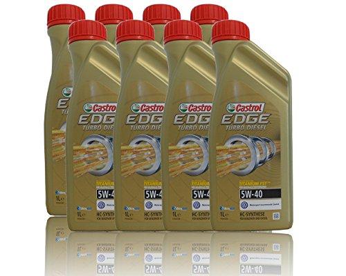 8x 1L = 8L Castrol Edge Titanium fsttm Turbo Diesel 5W-40Huile de moteur HUILE DE moteurs Pendentif Castrol ölwechsel inclus, Spécifications/autorisations: ACEA C3, API SN/CF; VW 50200/50500/50501; BMW Long