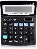 Nfudishpu Office Calculator, Solarbatterie Dual Power Office Desktop-Rechner mit 14-stelligem LCD-Display Große Tasten für das Home Office der Business School