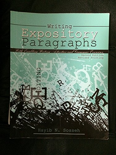 Writing Expository Paragraphs: With Enabling Writing Activities and Grammar Exercises