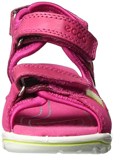 Ecco Ecco Urban Safari Kids, Sandales  Bout ouvert fille Pink (50229BEETROOT/BEETROOT)