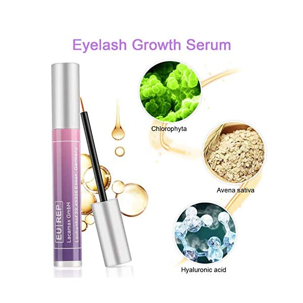 Serum De Pestañas, Nivlan 5ml 100% Natural Serum Pestañas & Cejas Crecimiento, Acelerador para un crecimiento de…