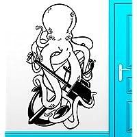 GGWW Wall Sticker Vinyl Decal Octopus Ocean Anchor Pirate Funny Cool Decor (Z2489)