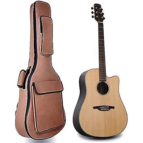 Bolso para La Guitarra de 41 Pulgadas (marrón)