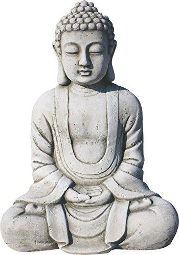 ARTESANIAROCA Buda de Piedra Artificial para el Jardín. Muy Decorativo. Modelo Dharma,...