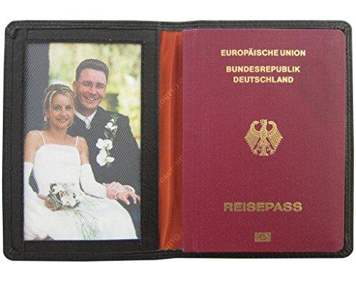 Custodia in pelle JOSYBAG per il vostro viaggio pass PASSPORT - Nero - anche impedivano nauc copertina del documento di identità