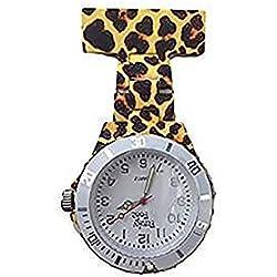 Funky Medical - Reloj de pulsera de neón con leopardo