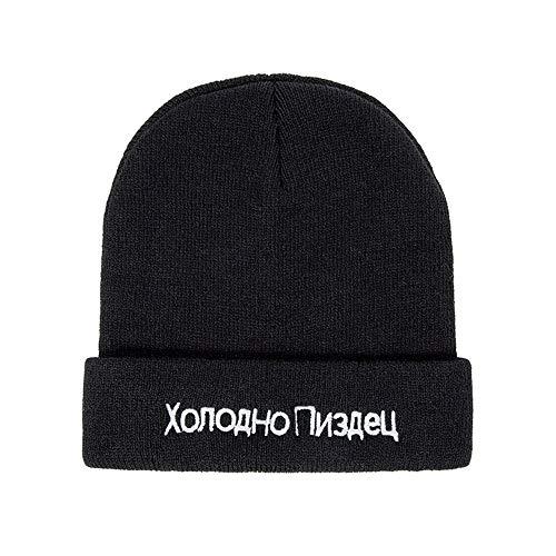HAOLIEQUAN Winter Beanie Cap Männer Hut Beanie Gestrickte Hiphop Winter Hüte Für...