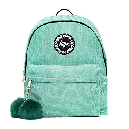 Hype Corduroy Pom Backpack One Size Mint/purple
