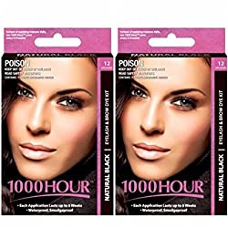 1000Hour Combo Pack 1000 Hour Eyelash & Brow Dye / Tint Kit Permanent Mascara (Black & Black)