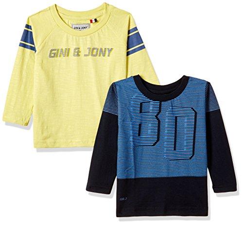 Gini & Jony Baby Boys' T-Shirt (Pack of 2) (121246516252 C656 NAVY(C656) 12M)