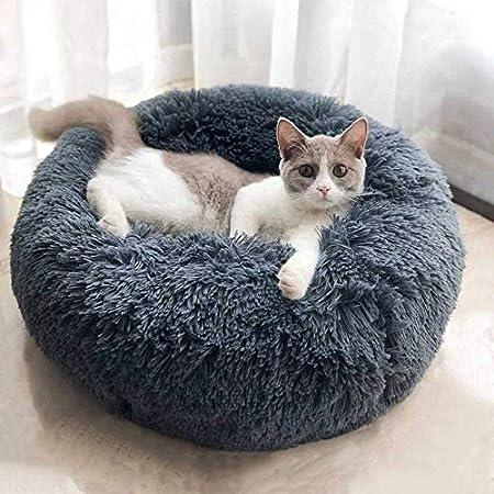 Queta Katzenbett Schöne Tierbett, Klein Hund Bett Haustierbett Plüsch Weich Runden Katze Schlafen Bett