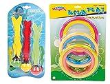 tauchsp ielzeug Juego Intex Inmersión pelotas y 6Buceo anillos Multicolor