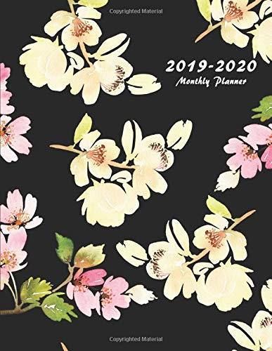 2019-2020 Monthly Planner: Large Two Year Planner with Flower Coloring Pages (Floral Cover Volume 8) por Miracle Planners