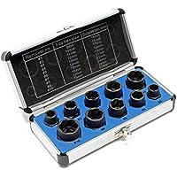 Tornillos de & Tuerca naus Destornillador 10mm accionamiento cuadrado 10Nueces SW 9–19mm Juego de herramientas