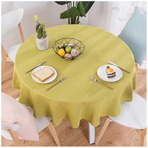 SCOFEEL HOME ölbeständig Haus Dekor Baumwolle Leinen Runde Oval Solide Tischdecke -