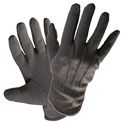 1Paar Schmuck Antiquitäten Armbanduhr Schöpfern Handhabung Handschuhe schwarz Baumwolle Micro Dots Qualität (8–Medium)