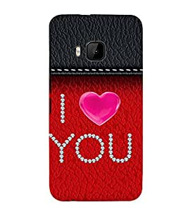 99Sublimation I love You lot 3D Hard Polycarbonate Back Case Cover for HTC One M9
