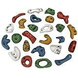 ALPIDEX 25 Klettergriffe - Verschiedene Grifftypen, ideales Starterset, Farbe:bunt