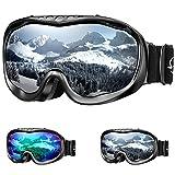 ENKEEO Gafas de Esquí Lente Doble Anti-Vaho 100% UV400 Protección Ski Goggles Snowboard para...