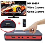 Microware HD Video Game Capture 1080P HD/YPbPr Component or Composite Recorder into USB Disk SD Card for Blue-ray DVD Player PS3 PS4 Set-top Box EU Plug
