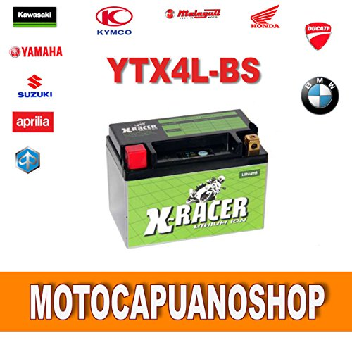 BATTERIA MOTO X-RACER LTZ5S A LITIO YTX4L-BS BOMBARDIER-CAN AM DS MINI 90 2003