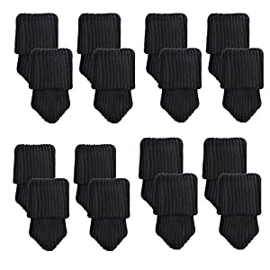 Mogoko 16 x Stuhlbeinsocke Möbel Socken Anti-Rutsch Wollsocken Hocker Fessel Tabellen Cotton Caps Fußboden Schutz Stuhl…