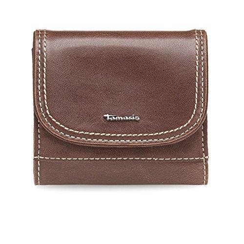 TAMARIS Damen Brieftasche Geldbörse, IDA, 4 Farben: schwarz, graphite grau, mocca braun oder navy blau, Farbe:mocca braun
