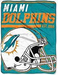 NFL Miami Dolphins 36,6m Dash Micro Couvre-lit Motif, 116,8x 152,4cm, Aqua