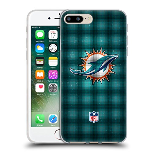 Offizielle NFL Marmor 2017/18 Miami Dolphins Soft Gel Hülle für Apple iPhone 6 / 6s LED