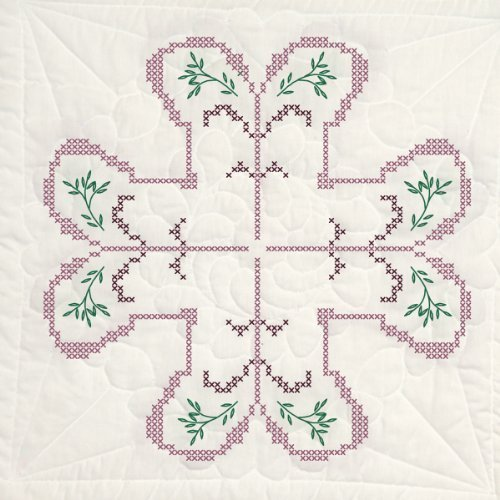 Fairway 95509 Stamped Quilt Block, 18-Inch x 18-Inch, Cross Stitch Pattern, 6-Pack by Fairway