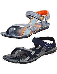 Earton Men Combo Pack of 2 Sandals