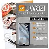Nokia 8 Schutzfolie 5x uwazi glas-klare Displayschutzfolie Folie