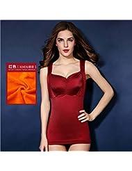 XMQC*El otoño y el invierno chaleco, cálido y elegante sexy plus y el pecho sin pelusa y espeso monte pecho cosmopolitian formando la cálida ropa interior térmica Shirt XL XL azul, rojo ,XXXL