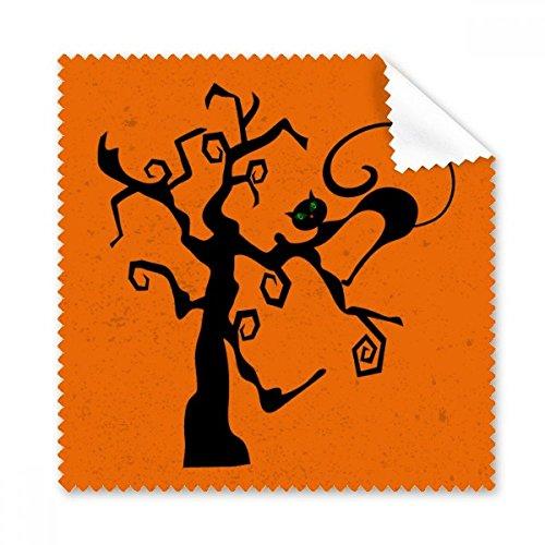 (DIYthinker Kratzbaum Halloween Hallowmas orange Gläser Tuch Reinigungstuch Geschenk Telefon Screen Cleaner 5pcs)