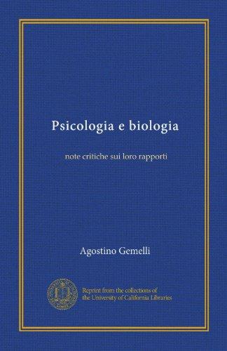 Psicologia e biologia note critiche sui loro rapporti
