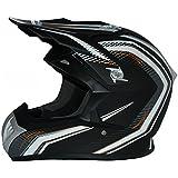 Protectwear casque de moto, casque de cross, casque Enduro, noir-blanc, FS603-SW, Taille: L