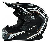 Protectwear casque de moto, casque de cross, casque Enduro, noir-blanc, FS603-SW, Taille: S