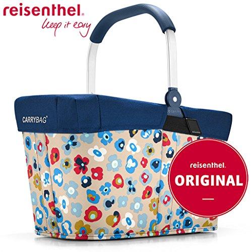 Reisenthel carrybag Millefleurs + Cover Navy - Blumen Mit Korb Ein
