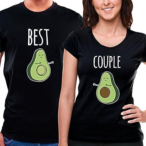Exklusiv Lustige Paare T-Shirts Avocado Liebe von VivaMake®