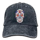 Denver Broncos Sugar Skull.png Cappello da Baseball per Adulto Cappello da Baseball Regolabile Athletic Creazione di ultimo Cappello per Uomo e Donna Multicolor69