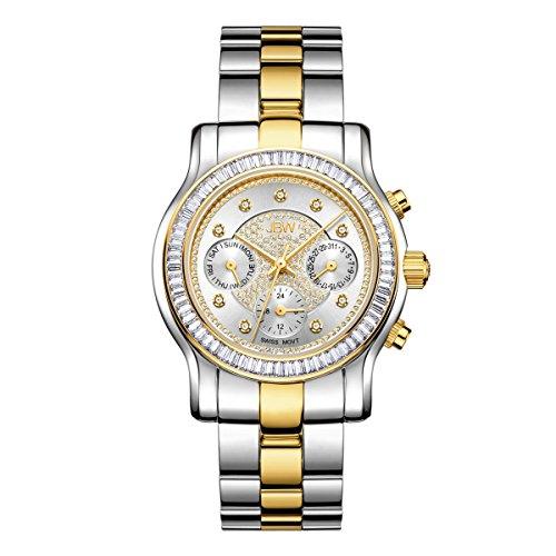 JBW diamante da donna in acciaio inox orologio Laurel–Argento/Oro