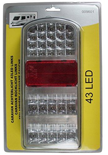 Preisvergleich Produktbild Rücklicht Caravan 43 LEDs Links Rückleuchte Wohnwagen PKW Anhänger Heckleuchte 338