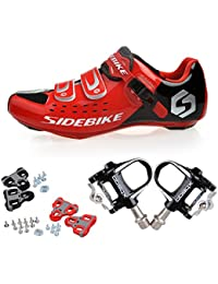 Skyrocket Zapatos de ciclismo de carretera Profesional Zapatos Biking del camino con Pedales de 1 par