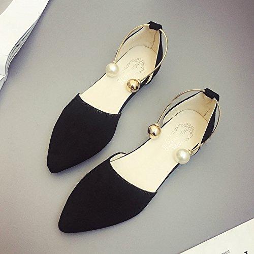 XY&GKDonna Sandali sandali estivi femmina bocca poco profonda Baotou Roma All-Match scarpe moda scarpe con punta piatta 35, Beige,con il migliore servizio 39black