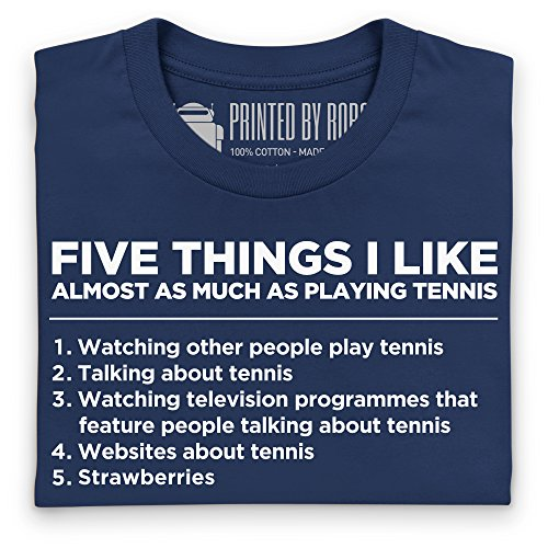 Five Things I Like - Tennis T-Shirt, Herren Dunkelblau