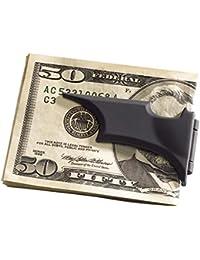 Clip para billetes, diseño de Batarang, acabado satinado