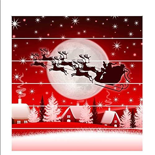 Wagsiyi Schneeflocke Glasaufkleber Mehrfarben gedruckte Innenweihnachtstreppe-Wand-Aufkleber-Dekoration für Weihnachtsjahreszeit Aufkleber Für Weihnachtsdekoration